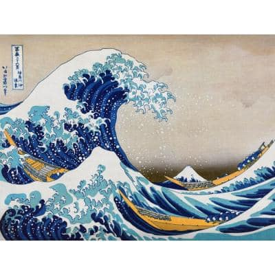 """23.5 in. x 31.5 in. """"The Great Wave Off Kanagawa """" Wall Art"""