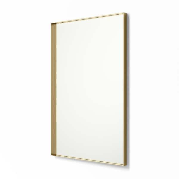 Better Bevel 30 In X 40 Metal, White Bathroom Mirror 30 X 40