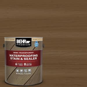 1 gal. #ST-109 Wrangler Brown Semi-Transparent Waterproofing Exterior Wood Stain and Sealer