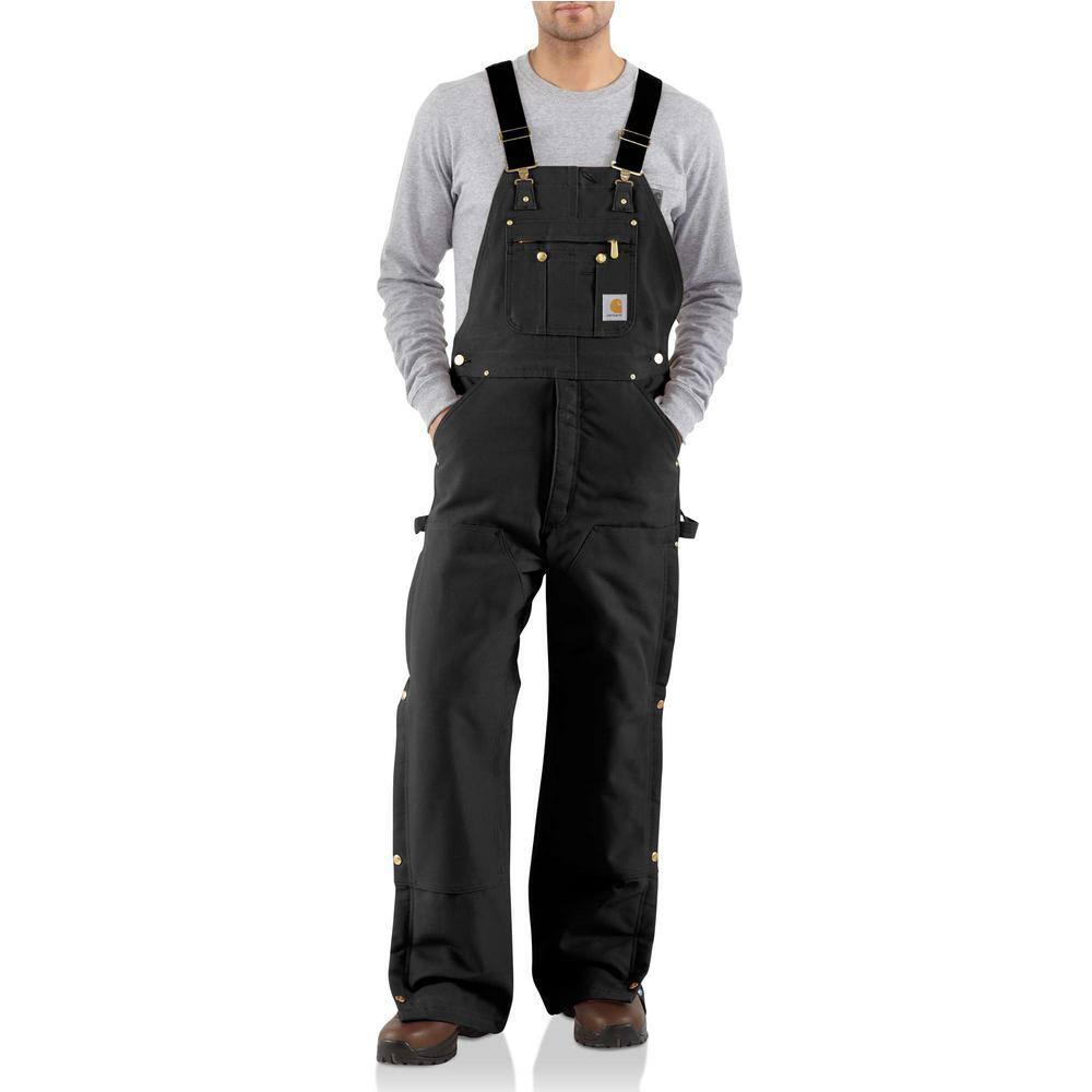 Walls Outdoor Men/'s Leg Zipper Bib Overalls Black NWT 48 x 32
