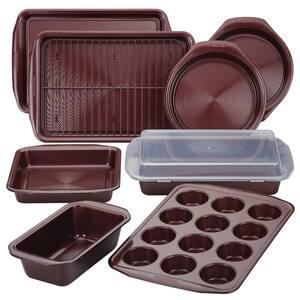 Nonstick Bakeware 10-Piece Merlot Bakeware Set