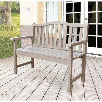 Belfort Cedar Wood Outdoor Garden Bench 43.25 in. - Taupe Gray