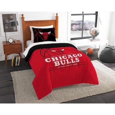 Bulls 2-Piece Multi Color Polyester Reverse Slam Twin Comforter Set