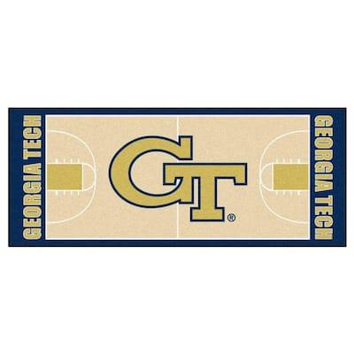 Georgia Tech 3 ft. x 6 ft. Basketball Court Rug Runner Rug