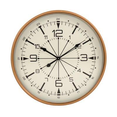 Round Compass Contemporary Metal Clock