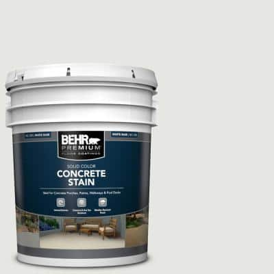 5 gal. #PFC-66 Ice White Solid Color Flat Interior/Exterior Concrete Stain