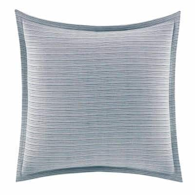 Raw Coast 1-Piece Blue Solid Cotton European Sham