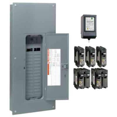 Homeline 200 Amp 30-Space 60-Circuit Indoor Main Breaker Plug-On Neutral Load Center with Surge SPD - Value Pack