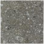 Rizzo Dark Gray 24 in. x 24 in. x 9mm Semi Polished Porcelain Floor and Wall Tile (3 pieces / 11.62 sq. ft. / box)