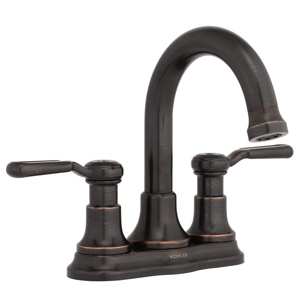 Kohler Worth 4 In Centerset 2 Handle Bathroom Faucet In Oil Rubbed Bronze R76256 4d 2bz The Home Depot