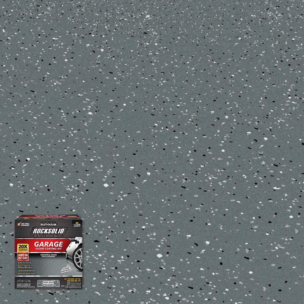 90 oz. Dark Gray Polycuramine 1 Car Garage Floor Kit