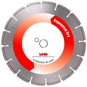 14 in. Dry Cutting General Purpose Segmented Diamond Blade For Cured Concrete.