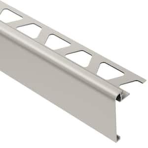 Rondec-Step Satin Nickel Anodized Aluminum 1/2 in. x 8 ft. 2-1/2 in. Metal Tile Edging Trim