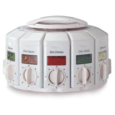 Select A Spice Plastic White Spice Carousel
