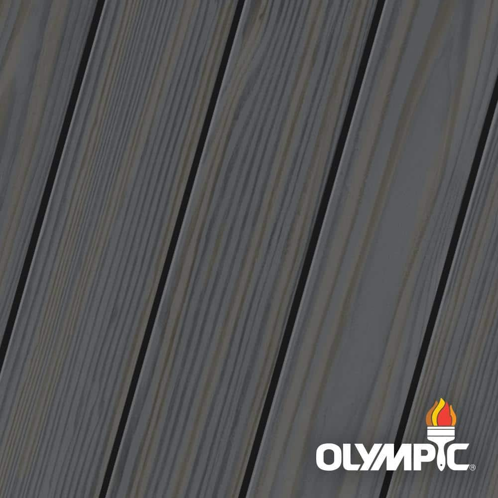 Olympic Elite 3-gal. EST913 Ebony Semi-Transparent Exterior Stain and Sealant in One Low VOC