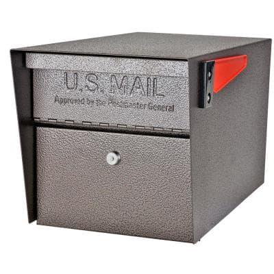 Mail Manager Locking Post-Mount Mailbox with High Security Reinforced Patented Locking System, Bronze