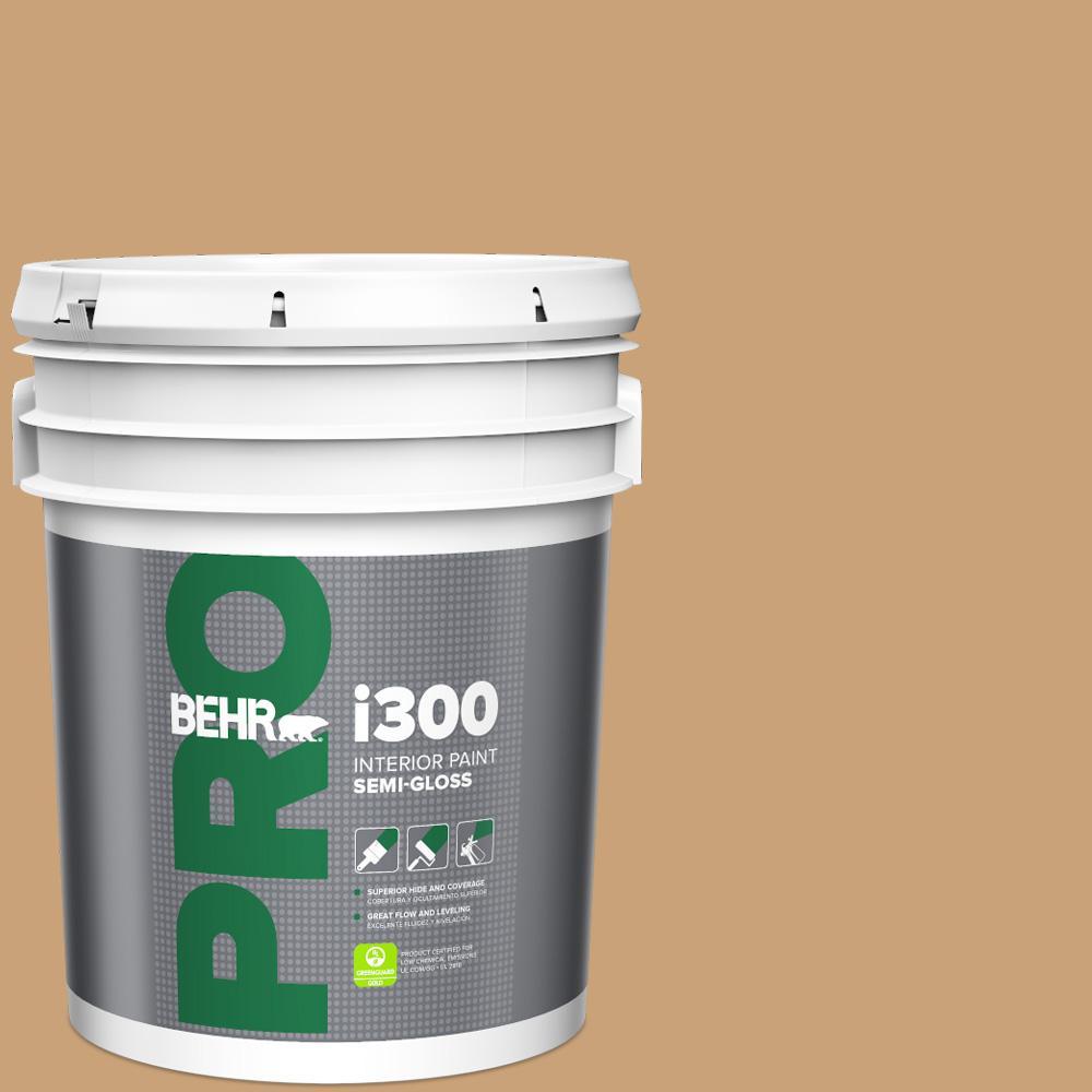 5 gal. #BXC-70 Fresh Sawdust Semi-Gloss Interior Paint