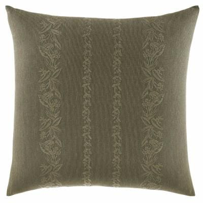 Nador Green Floral Cotton 18 in. x 18 in. Throw Pillow