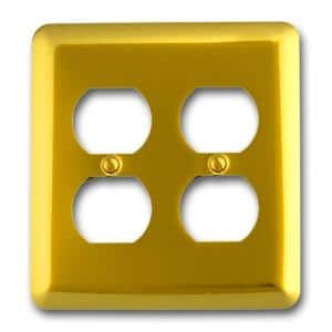 Brass 1-Gang 2 Duplex Wall Plate (1-Pack)