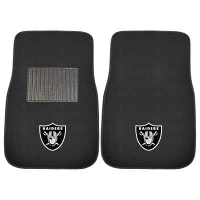 NFL - Las Vegas Raiders 2-Piece 17 in. x 25.5 in. Carpet Embroidered Car Mat
