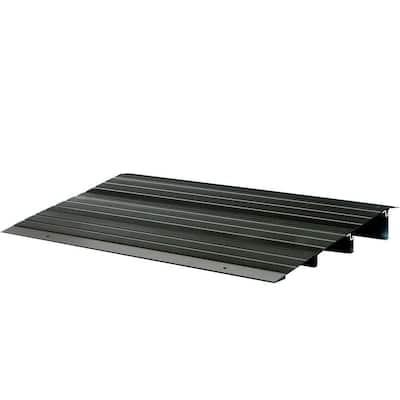 2 ft. 10 in. x 1 ft. 8.5 in. x 3 in. Aluminum Threshold Ramp