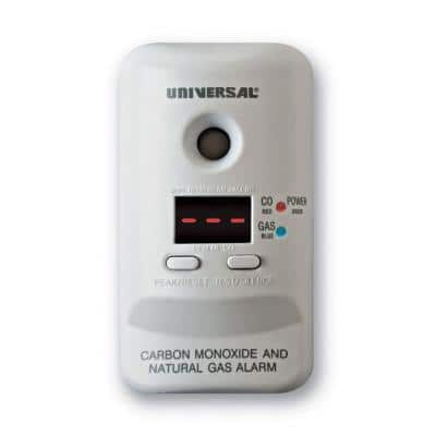 Plug-In, 2-in-1 Carbon Monoxide & Natural Gas Detector, Display Screen, Battery Backup, Microprocessor Intelligence