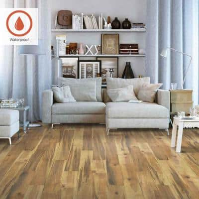 Outlast+ 5.23 in. W Natural Spalted Maple Waterproof Laminate Wood Flooring (13.74 sq. ft./case)