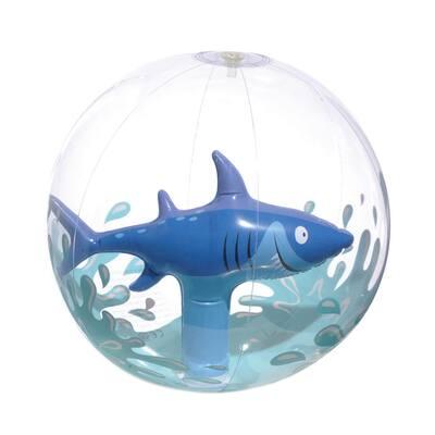 Summer Shark 12 in. Inflatable Beach Ball (3-Pack)