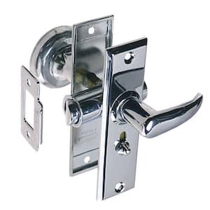 Tubular Latch Set with Sliding Lock Button