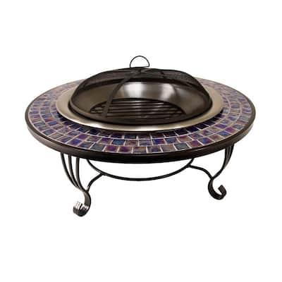 Glass Mosaic Fire Pit