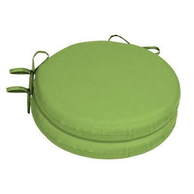 15 x 15 Sunbrella Canvas Gingko Round Outdoor Chair Cushion (2-Pack)