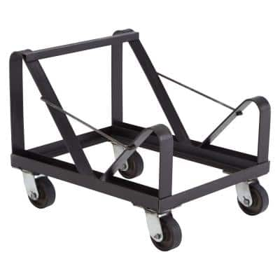 660 lb. Weight Capacity Black Powder Coated Steel Dolly for Stack Chairs
