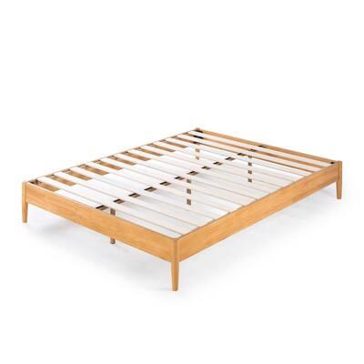 Amelia Natural Full Wood Platform Bed Frame