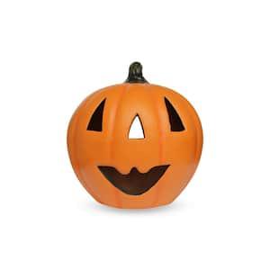 13 in. Orange Cheerful Pumpkin