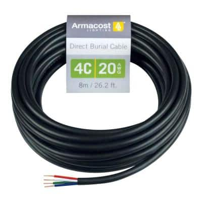 26.2 ft. 20 AWG WP 4C Low-Voltage Landscape Lighting Wire