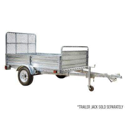 4.5 ft. x 7.5 ft. Single Axle Galvanized Utility Trailer Kit with Drive-Up Gate