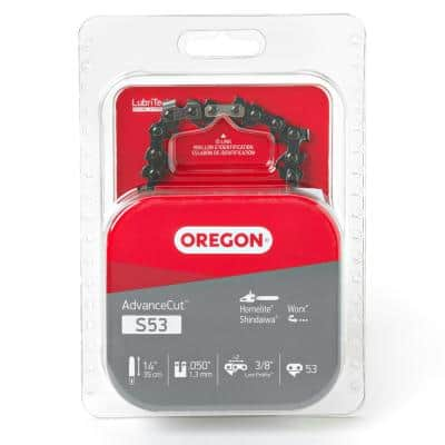 AdvanceCut Saw Chain 14 in. 0.050-Gauge 3/8 in. Low Profile Pitch Chainsaw Chain, 53 Drive Links