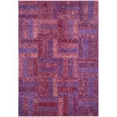Monaco Purple/Multi 5 ft. x 8 ft. Area Rug