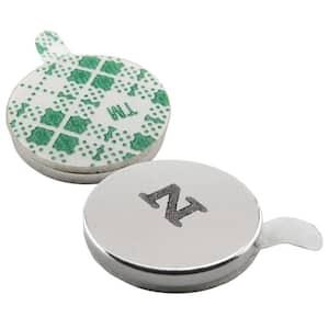 1/2 in. Dia Neodymium Rare-Earth Magnet Discs with Foam Adhesive (8-Pack)