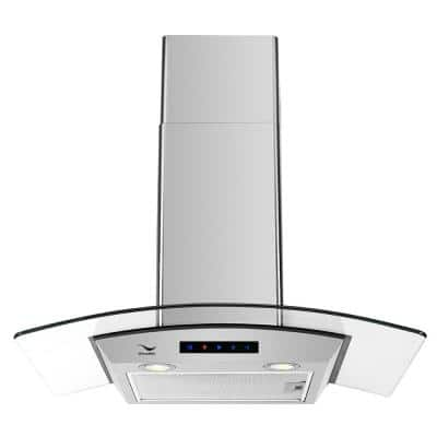 30 in. Convertible Stainless Steel Wall Mount Range Hood with Aluminum Mesh Filters, LED Lights, Touch Control