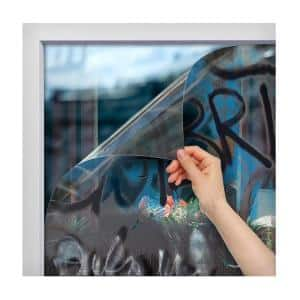 30 in. x 50 ft. AG4M Graffiti Protection 4 Mil Clear Window Film