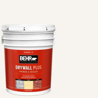 Behr 5 Gal White Acrylic Interior Exterior Multi Surface Stain Blocking Primer And Sealer 43605 The Home Depot