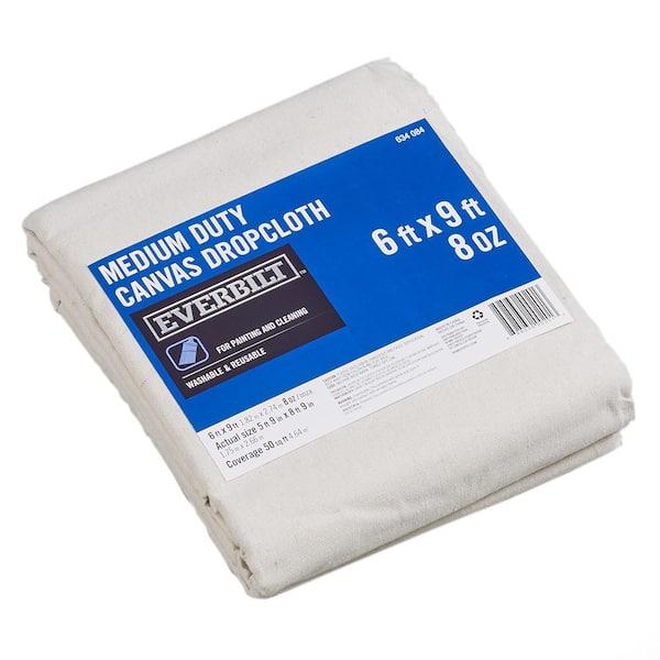 Everbilt 6 Ft x 9 Ft Medium Duty Canvas Drop Cloth