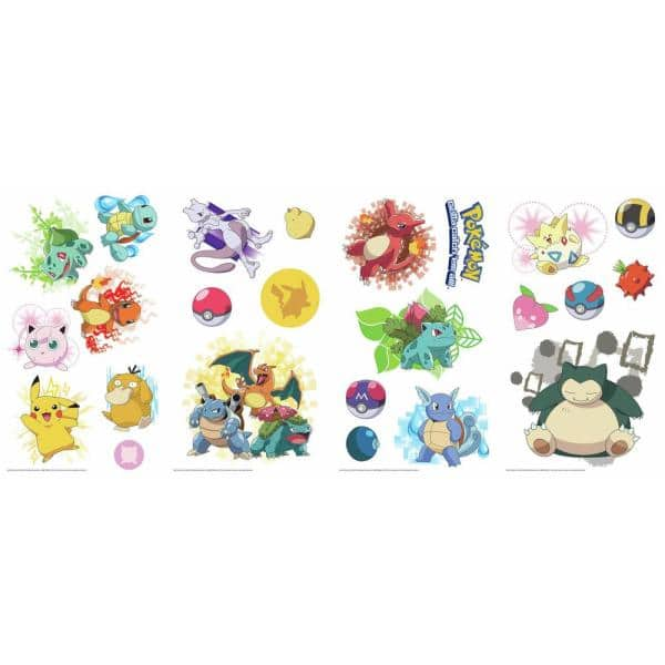 Pokemon Go Decal Sticker Bedroom Vinyl Kids Original Generation 151 #102 #126