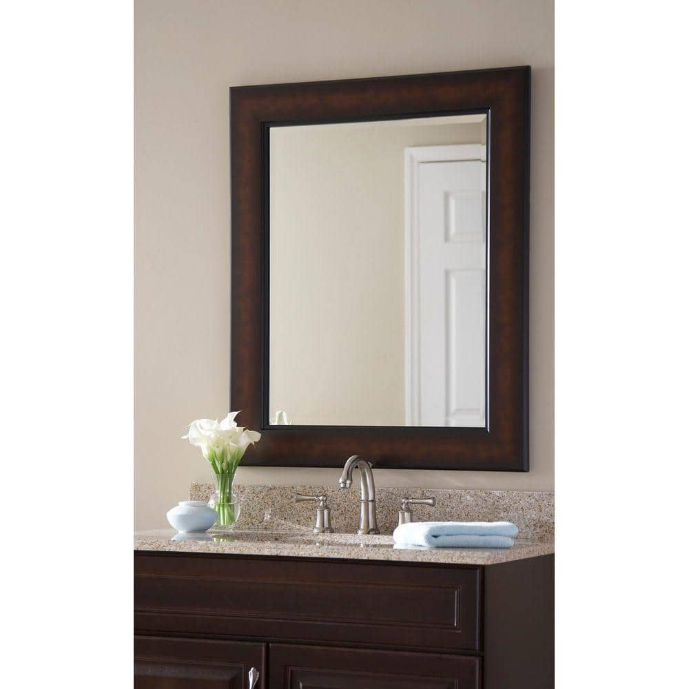 Mcs Medium Rectangle Coppered Bronze Beveled Glass Casual Mirror 35 125 In H X 29 125 In W 48813 The Home Depot