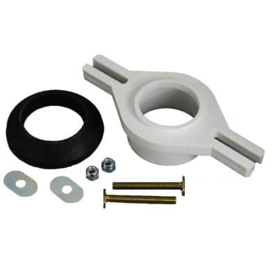 PVC 2 in. Over Pipe Fit Horizontally Adjustable Urinal Flange Kit