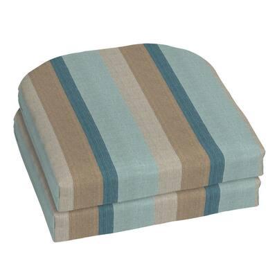 18 x 18 Sunbrella Gateway Mist Outdoor Chair Cushion (2-Pack)