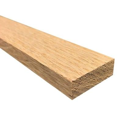 1/2 in. x 2 in. x 3 ft. S4S Oak Board