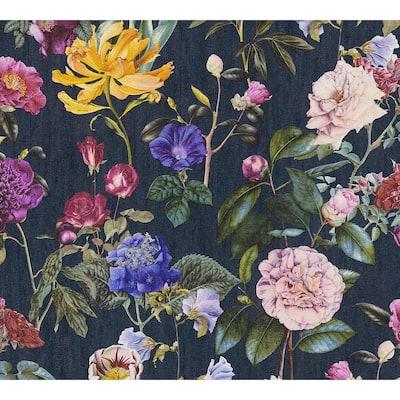 Strippable Aviva Multi-Color English Garden Wallpaper