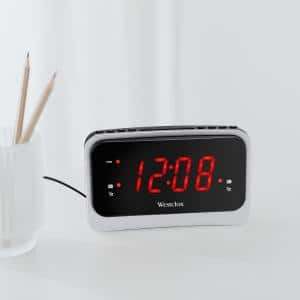 Soothing Nature Sounds/ Plastic FM Clock Radio with Large 1.4 in. Red LED Display and USB Charging Port - Model# 80231NS